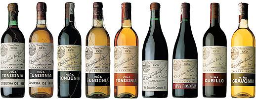 López de Heredia Viña Tondonia Wine Line-Up